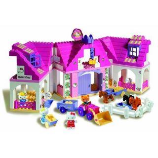 BIG Bloxx Hello Kitty Bauernhof 57025 142 Teile Kleinkindspielzeug NEU