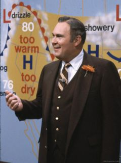 Weatherman Willard Scott on NBCs Today Show Premium Photographic Print by Ted Thai