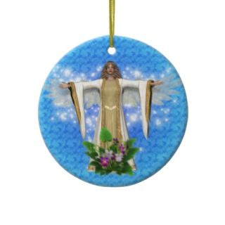 Guardian Angel Watch Over Blue Ornament