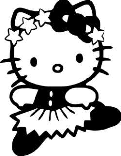 Kitty Ballerina Sterne Kinder Wandtattoo Aufkleber Dekor Auto Fun