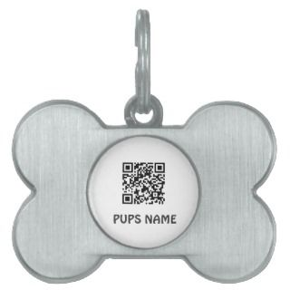 qr code pet bone shaped tag template pet name tags