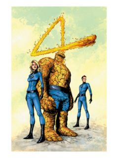 Marvel Knights 4 #26 Cover: Mr. Fantastic, Human Torch, Invisible Woman, Thing and Fantastic Four Posters by Valentine De Landro