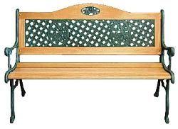 Gartentisch Tisch Aus Holz Gusseisen 112cm Rosendekor On Popscreen