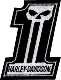 HD Harley Davidson EMBLEM #1 Skull Aufnäher / Patch