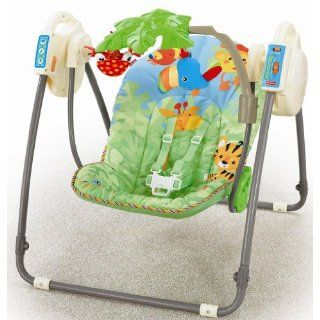 fisher price butterfly baby cradle swing mocha new. Black Bedroom Furniture Sets. Home Design Ideas