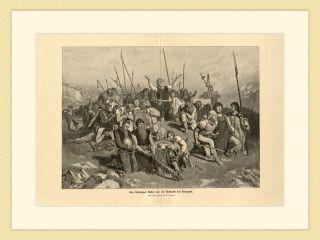 Der Schweizer Gebet vor der Schlacht bei Sempach Janssen ORIGINAL