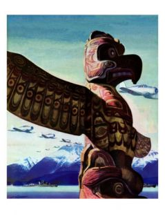 Totem Pole, January 31, 1942 Giclee Print by John Clymer