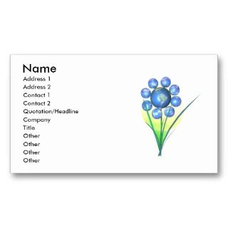 Earth Day Flower   Business Business Card