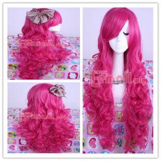 70cm My Lile Pony Pinkie Pie long magena wavy cos Cosplay hair+ wig