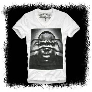 E1SYNDICATE V NECK T SHIRT NOTORIOUS BIG (L) BIGGIE SMALLS B.I.G 2PAC