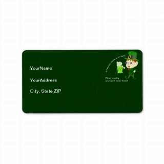 Leprechaun Beer St. Patricks Day Address Label