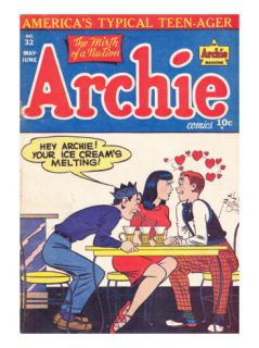 Archie Comics Retro Archie Comic Book Cover #32 (Aged) Prints by Al Fagaly