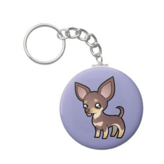 Cartoon Chihuahua (lilac and tan smooth coat) keychains by
