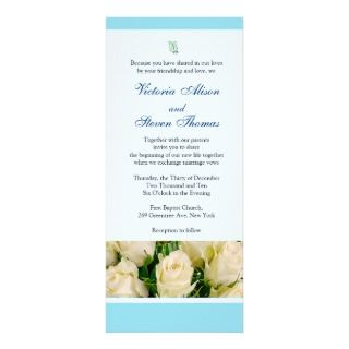 Elegant White Roses Wedding invitation