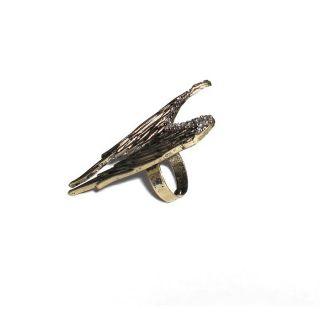 Neu Engelsflügel Ring Alt Gold Silber Vintage Engel Flügel