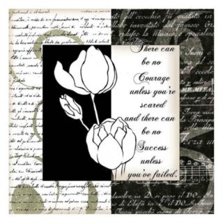 Embossed White Tulips I Prints by Anne Courtland