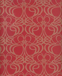 Vlies Tapete deLuxe 2012 Art Nouveau rot gold