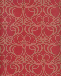 Vlies Tapete deLuxe 2012 Art Nouveau rot gold