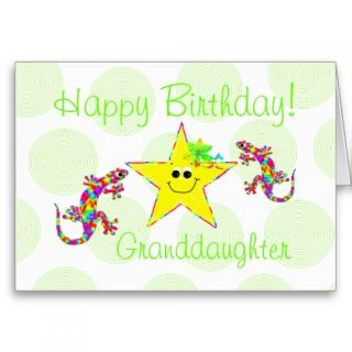 Happy Birthday Granddaughter Cards