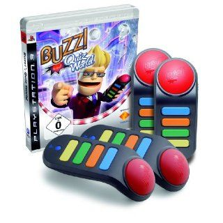 BUZZ!   Quiz World + 4 Wireless Buzzer: Games