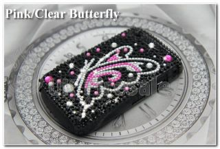 BLACKBERRY BOLD 9700 9780 PINK PURPLE DIAMOND CRYSTAL CASE BLING