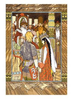 Prince and Princess Wall Decal by Ivan Bilibin