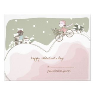 Love Bike Valentine Kids Card Announcements