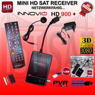 Innovio 900 + plus Full HD Mini digital Sat Receiver LAN USB PVR HDMI