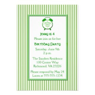 Stripe Clock Birthday Party Personalized Invitations