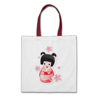 Japanese Geisha Doll   buns series Bag