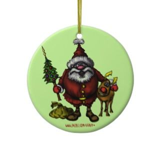 Funny Santa Christmas tree ornament design