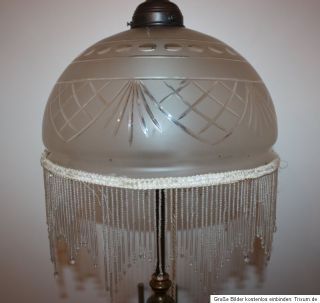Art deco Stehlampe Lampe Stehleuchte Messing 169 cm TRAUMHAFT