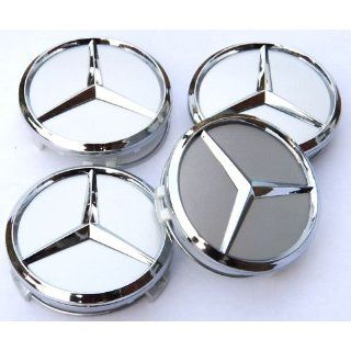 4st 60mm Mercedes Benz Blue Alloy Wheel Centre Caps Hub Cover Badges