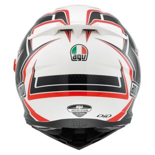HELM AGV 2013 INTEGRALHELM MOTO HORIZON MULTI RACER COLOR WEISS KARBON