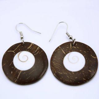 Design Ohrringe Shiva Auge Muschel Schmuck ER161