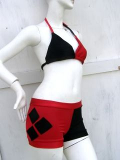Harley Quinn Batman S XL Bikini Swim Suit bathing costume Cosplay