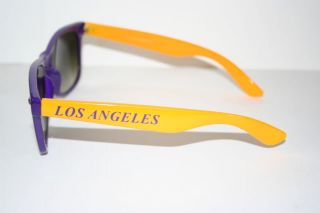 Retro Sonnenbrille Los Angeles Lakers gelb lila Kult Brille Shades