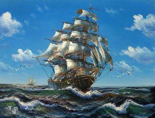 SCHIFF SEEFAHRT MARITIM  ÖLGEMÄLDE Gemälde Bild Oil Painting