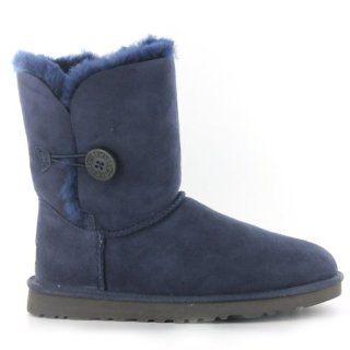 Ugg Australia W Bailey Button Navy Sheepskin Womens Boots