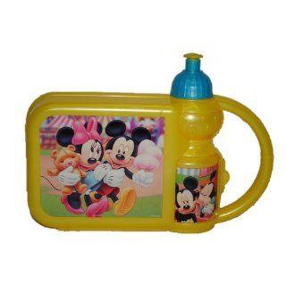 in 1   Brotdose mit Trinkflasche Minnie und Mickey Mouse   Set