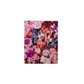 Elegant pink blue & purple floral pattern jigsaw puzzles