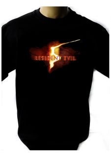 RESIDENT EVIL LOGO 1 BLACK NEW T SHIRT FRUIT OF THE LOOM DTG