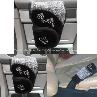 Mickey Mouse Auto Car Gear Shift Hand Brake Cover Set