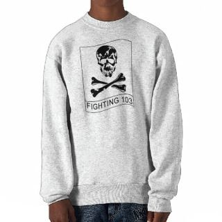 VF 103 Jolly Rogers Squadron Patch Pullover Sweatshirt