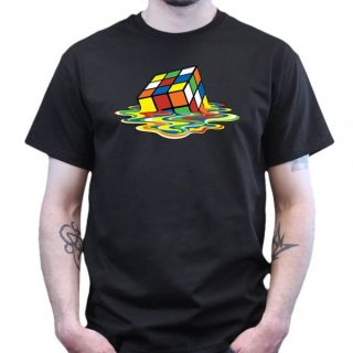 Big Bang Theorie   Melting Rubik Zauberwürfel   T Shirt   Sheldon