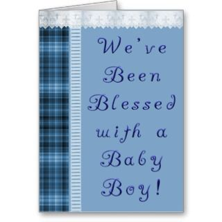 Baby Boy Birth Announcement Greeting Cards