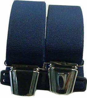 Hosenträger mit 4 Clips uni extra lang 130 cm Bekleidung