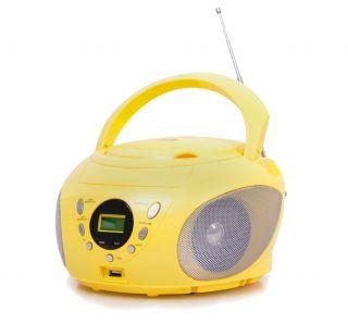 Kinder Design Boombox CD Player Radio CD Spieler CD Radio USB AUX MP3