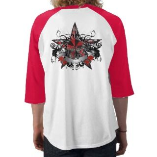 Dragons Tiger Skull Red Star T shirt   Customized