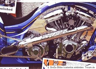 Harley BSL Scale Drager Auspuff Softail z.B. Fat Boy Auspuffanlage